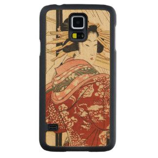 Hikeyotsu geen yoru geen ame (Vintage Japanse Esdoorn Galaxy S5 Slim Hoesje
