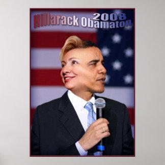 Hillarack Obamaton Poster