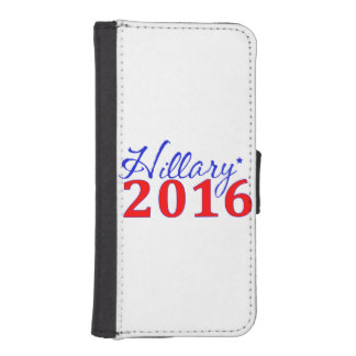 Hillary Clinton 2016 iPhone 5 Portefeuille Hoesjes