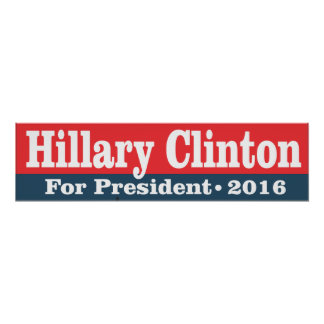 Hillary Clinton voor President 2016 Poster