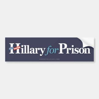 Hillary voor Gevangenis Bumpersticker