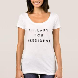 Hillary voor President 2016 T Shirt