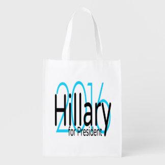 Hillary voor President in 2016 Herbruikbare Boodschappentas