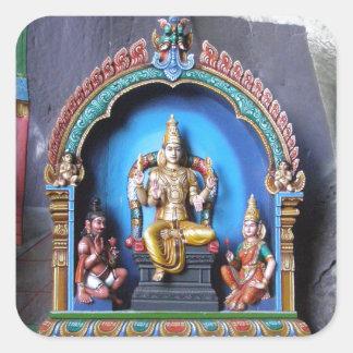 Hindoes Heiligdom, holen Batu Vierkante Sticker