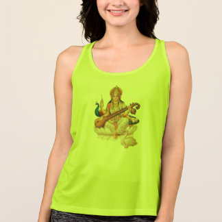 Hindoese Godin Saraswati, t-shirtontwerp Tanktop