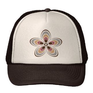 Hip Art deco/Retro Bloem Trucker Cap