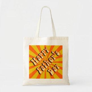 Hip Oranje Retro voor Vaderdag Tas