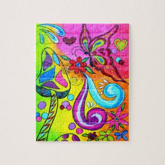 hip psychedelisch magisch paddestoelenraadsel puzzel