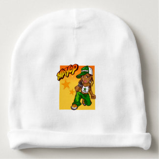 hiphop rapper meisjes groene oranje cartoon baby mutsje