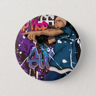 hiphop zanger ronde button 5,7 cm