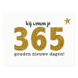 Hippe Nieuwjaarskaart - 365 gouden nieuwe dagen Briefkaart