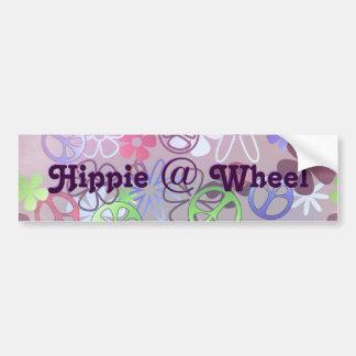 Hippie bij de Sticker van de Bumper van het Wiel Bumpersticker