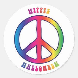 Hippie (Gelukkig) Halloween Ronde Sticker