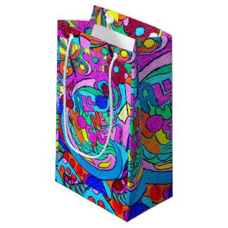 hippie hip vrede en liefde klein cadeauzakje
