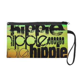 Hippie; Trillende Groen, Oranje, & Geel Tasje Met Polsbandje