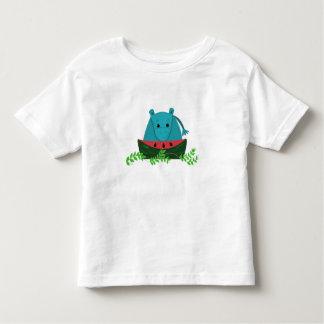 Hippo die Watermeloen eten Kinder Shirts