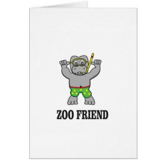 hippo van de dierentuinvriend briefkaarten 0