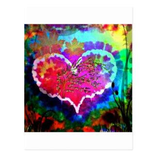 Hippy bij de giftcollectie van de Kleurstof van Briefkaart