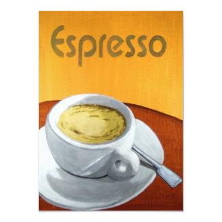 Hipster - het Vintage Schilderen van de Espresso 11,4x15,9 Uitnodiging Kaart