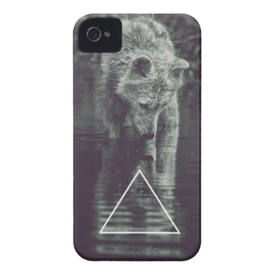 hipster wolf iPhone 4 hoesje