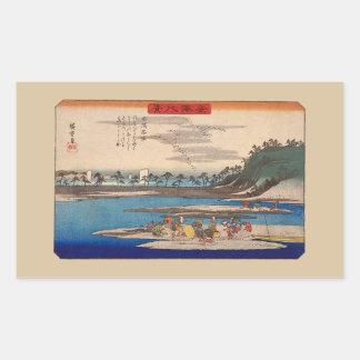 Hirakata, Kanazawa door Hiroshige Stickers