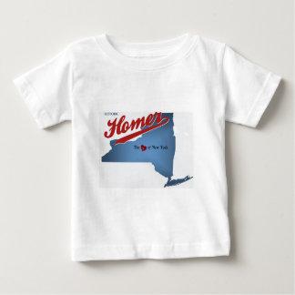 Historisch Homerus: Het hart van NY Baby T Shirts