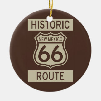 Historische Route 66 New Mexico Rond Keramisch Ornament