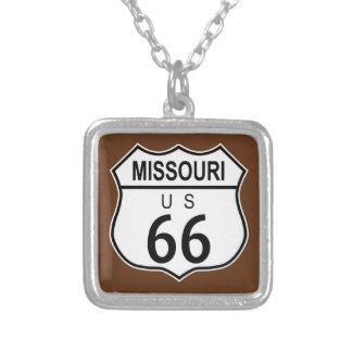 Historische Route 66 van Missouri Zilver Vergulden Ketting
