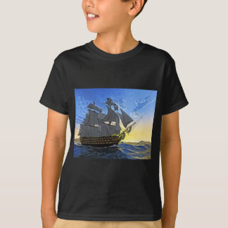 HMS Victory in Dawn T Shirt