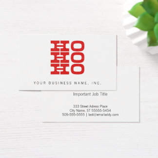 Ho Ho Ho (letterzetselstijl) Visitekaartjes