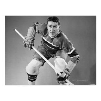 Hockey Defenseman Briefkaart