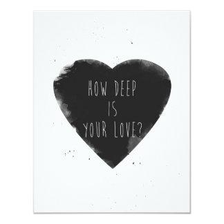 hoe diep uw liefde is 10,8x13,9 uitnodiging kaart