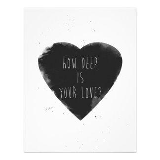 hoe diep uw liefde is uitnodiging