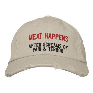 Hoe het Vlees gebeurt Geborduurde Pet