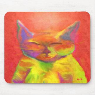 """""""Hoe Mei u me?"""" dient De Kunst Mousepad van de kat Muismat"""