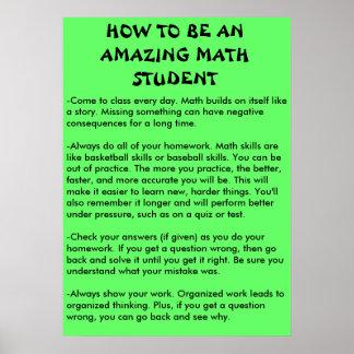 hoe te een verbazende wiskundestudent te zijn poster