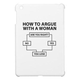 Hoe te met een Vrouw te debatteren Hoesje Voor iPad Mini