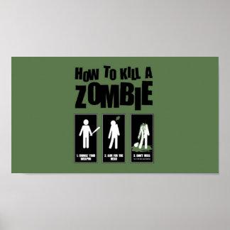 Hoe te om een Zombie te doden Poster