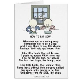 Hoe te om Soep te eten - Goops Kaart