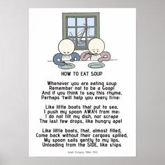 Hoe te om Soep te eten - Goops Poster