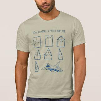 Hoe te om tot een Vliegtuig van het Document T Shirt