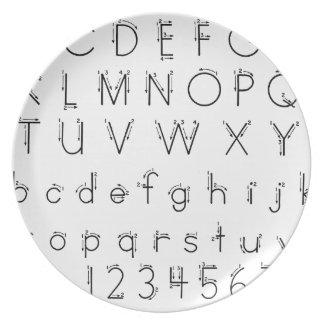 Hoe te om uw brieven te vormen - het handschrift melamine+bord
