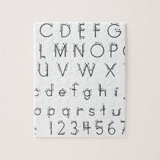 Hoe te om uw brieven te vormen - het handschrift puzzel