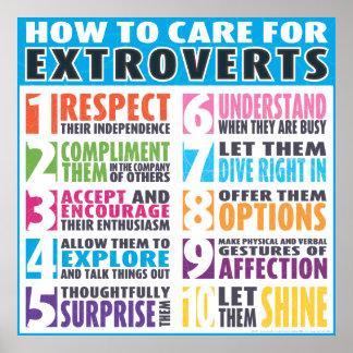 Hoe te voor Extraverten te geven Poster