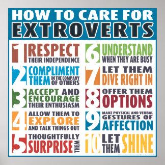 Hoe te voor (Gewaagde) te geven Extraverten Poster