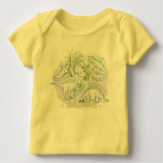 Hoe u het babyt-shirt van Dinosaurussen zegt Baby Shirt