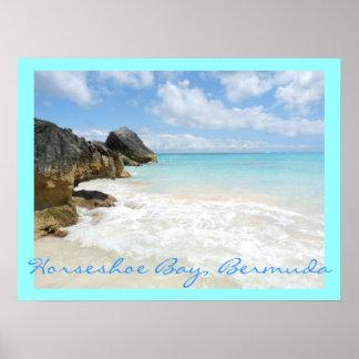 Hoefijzer baai, de Bermudas Poster