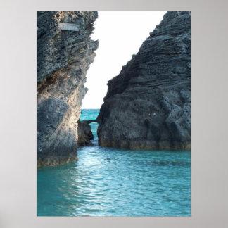 Hoefijzer Strand de Bermudas Poster