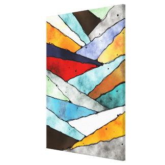 Hoeken van Geweven Kleuren Canvas Print
