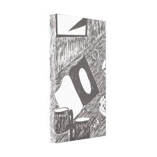 Hoekjes en Spleten Canvas Print